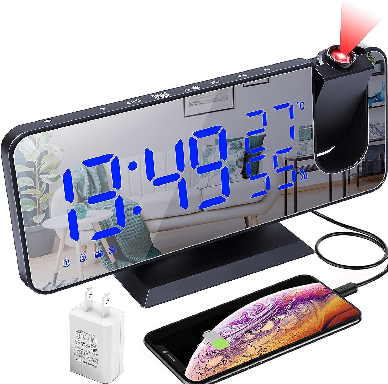depot Choice Projection Alarm Clock LED Digital Kids Desktop for