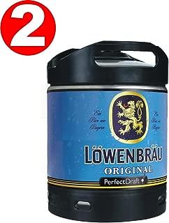 2 x Lowenbrau originales Perfect Draft barril de cerveza 6 litro 5,2% vol