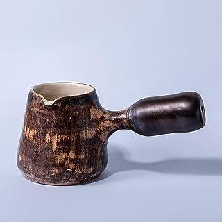 Cafetera de cerámica Vintage hecha a mano, cafetera Jezve, utensilios de cocina turcos Cezve pequeños turcos, decoración R...