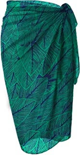 LIENRIDY Women's Beach Sarong Chiffon Cover Up Pattern Color Swimwear Wrap 107-8-2XL-3XL