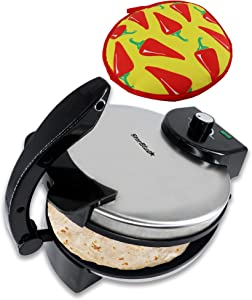 10inch Roti Maker by StarBlue with FREE Roti Warmer - The automatic Stainless Steel Non-Stick Electric machine to make Indian style Chapati, Tortilla, Roti 110-120V 60Hz 1500W