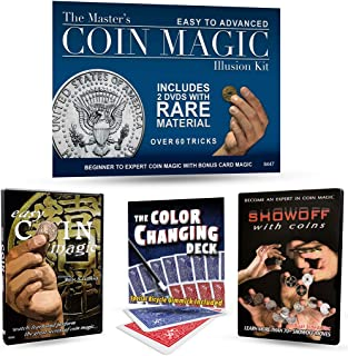 Magic Makers The Master's Coin Magic Illusion Kit - 2 DVDs with Rare Material and Bonus Card Tricks