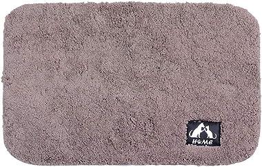Floor Mat Non-Slip Soft Carpet Comfortable Kitchen(Cake Velvet-Brown, 40 * 60cm)