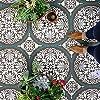 Penelope タイルステンシル - タイルフロアのペイント用タイルステンシル - 木製、リノリウム、セメントの床に - 古いタイルをペイントして節約 - 床のペイント用フロアステンシル