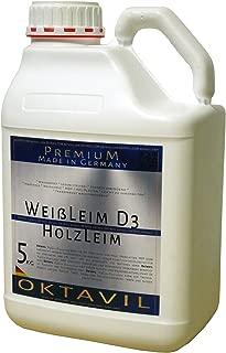 Oktavil Weißleim D3 Leim Dispersionsleim Holzleim Wasserfest 5 kg Kanister