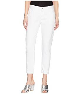 Sadey Mid-Rise Slim Straight in White