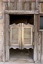 Yeele 8x10ft Western Backdrops for Photography Wild Vintage Saloon Bar Swinging Saloon Doors Entrance Background Old Rustic Retro Cowboy Boy Man Photo Booth Shoot Vinyl Studio Props