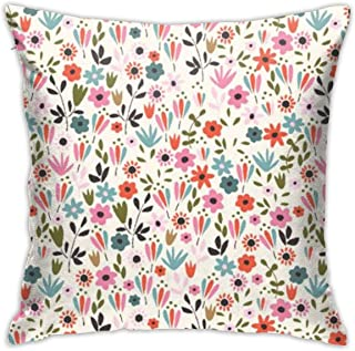F.G. MINGSHA Throw Pillow Cover Flower Pillow Cases for Home Decor Design Set Cushion Case for Sofa Bedroom Car Standard Size 18 x 18 Inch