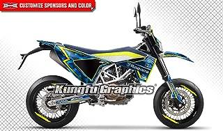 Kungfu Graphics Custom Decal Kit for Husqvarna SM 701 Supermoto 2015 2016 2017 2018 2019 2020, Shiny Blue