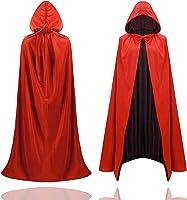 TK Gruppe Timo Klingler Halloween Vampir Kostüm Umhang - rot & schwarz - Kaputzenumhang für Kinder & Erwachsene - Damen...