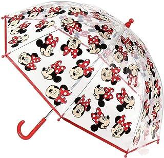 Cerdá-2400-0512 Minnie Paraguas Campana Transparente, multicolor, única (2400-0512) , color/modelo surtido