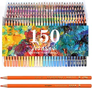 Professional Watercolor Pencil Set 150 Count Art Supplies for Coloring, Drawing, Shading..