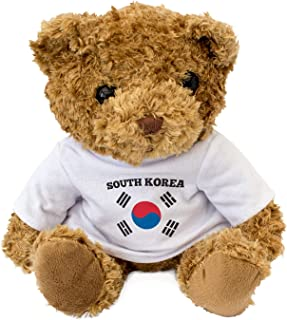 South Korea Flag - Adorable Lovely Soft Brown Teddy Bear - Gift Present