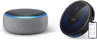 Echo Dot 第3世代 - スマートスピーカー with Alexa、ヘザーグレー + Anker Eufy RoboVac 15C Max(ロボット掃除機)
