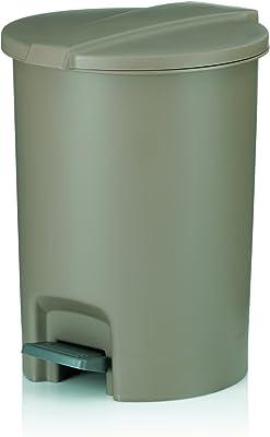 Kela(ケラ) ペダル式ゴミ箱 クリーム サイズ:∅22×23×H28.5cm ダストビン6.5L クリーム Marta 23122