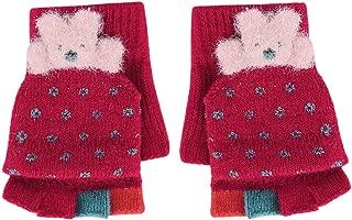 Haoohu Boys Girls Winter Warm Knit Gloves Mittens for Toddler Kids