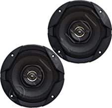 "JBL GT7-6 6.5"" 2-Way GT7-Series Coaxial Car Audio Speakers-Set of 2, Black, one Size"
