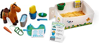 Melissa & Doug Feed And Groom Horse Care Pretend Play Set, Multi Color