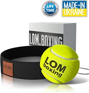 LOM Fight Ball Reflex, Boxing Ball, Softer Than Rubber Ball, Boxing Equipment, Trainer for Workout and Fitness, Boxing Headband with String and Boxing Tennis Ball for speed punch and for All Ages