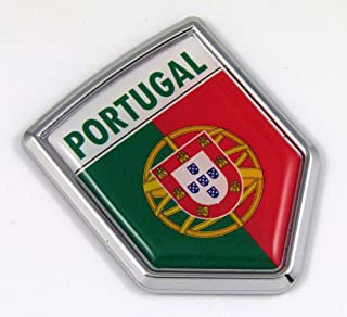 Portugal Portuguese Flag Car Chrome Emblem 3D Decal