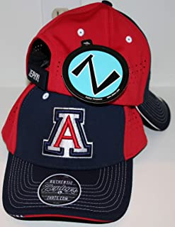 ZHATS University of Arizona UA Wildcats Blue Red Pacer Top Performace Mens/Womens Adjustable Baseball Hat/Cap