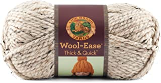 Lion  640-123E Wool-Ease Thick & Quick Yarn , 97 Meters, Oatmeal