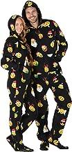 Footed Pajamas - Merry Emoji Xmas Adult Hoodie Fleece Onesie