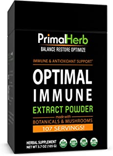 Immune & Wellness Support Formula | by Primal Herb | Super Antioxidant | Medicinal Mushrooms & Herbal Extract Powder - 96 ...