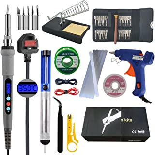 Sponsored Ad – 60W 220V LCD Soldering Iron Kit Welding Tool Set with Thermostatic Digital-Controlled Pen Adjustable Temper...