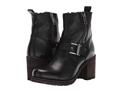 Frye Karen Moto Zip (Black) Women
