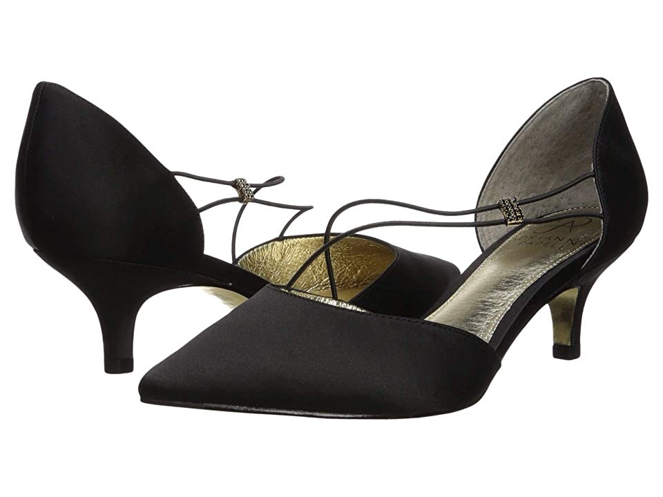 Adrianna Papell Lacy (Black Classic Satin) Women