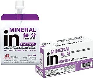 inゼリー マルチミネラル グレープ味 (180g×6個) 栄養補助ゼリー 10秒チャージ 5種類のミネラル配合 栄養機能食品(鉄・カルシウム・亜鉛・銅)