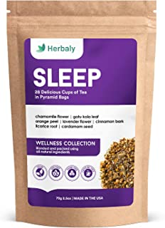 Herbaly Sleep Tea - Aids Sleep | Calms the Mind | Relaxes the Body | Reduces Inflammation