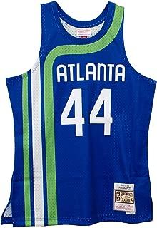 Pistol Pete Maravich Atlanta Hawks Men's Blue HWC Swingman Jersey