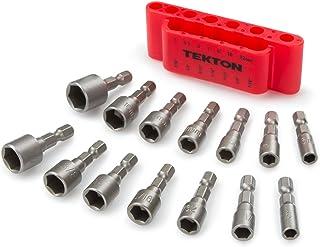 TEKTON 2938 Quick-Change Power Nut Driver Bit Set with Detents, 14-Piece