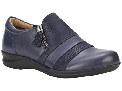 Walking Cradles Camden (Navy Nappa/Patent Lizard Print) Women