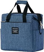 JEMESI Lunchtas GeïsoleerdeLunchbox Zachte Koelere Koeltas voor Volwassen Mannen, Dames, (10L), blauw