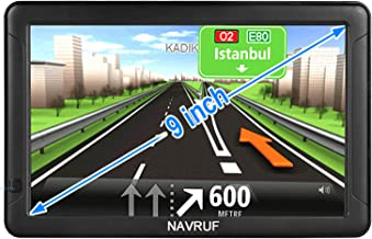 GPS Navigation for Cars and Trucks, 9-inch car GPS Navigator, high-Definition Touch Screen and Voice Reminders, The Latest...