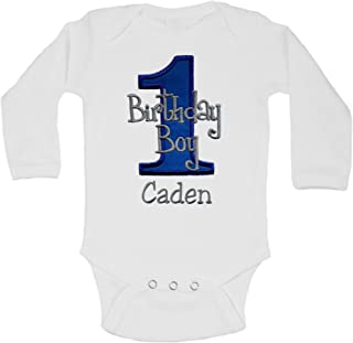 embroidered first birthday shirts