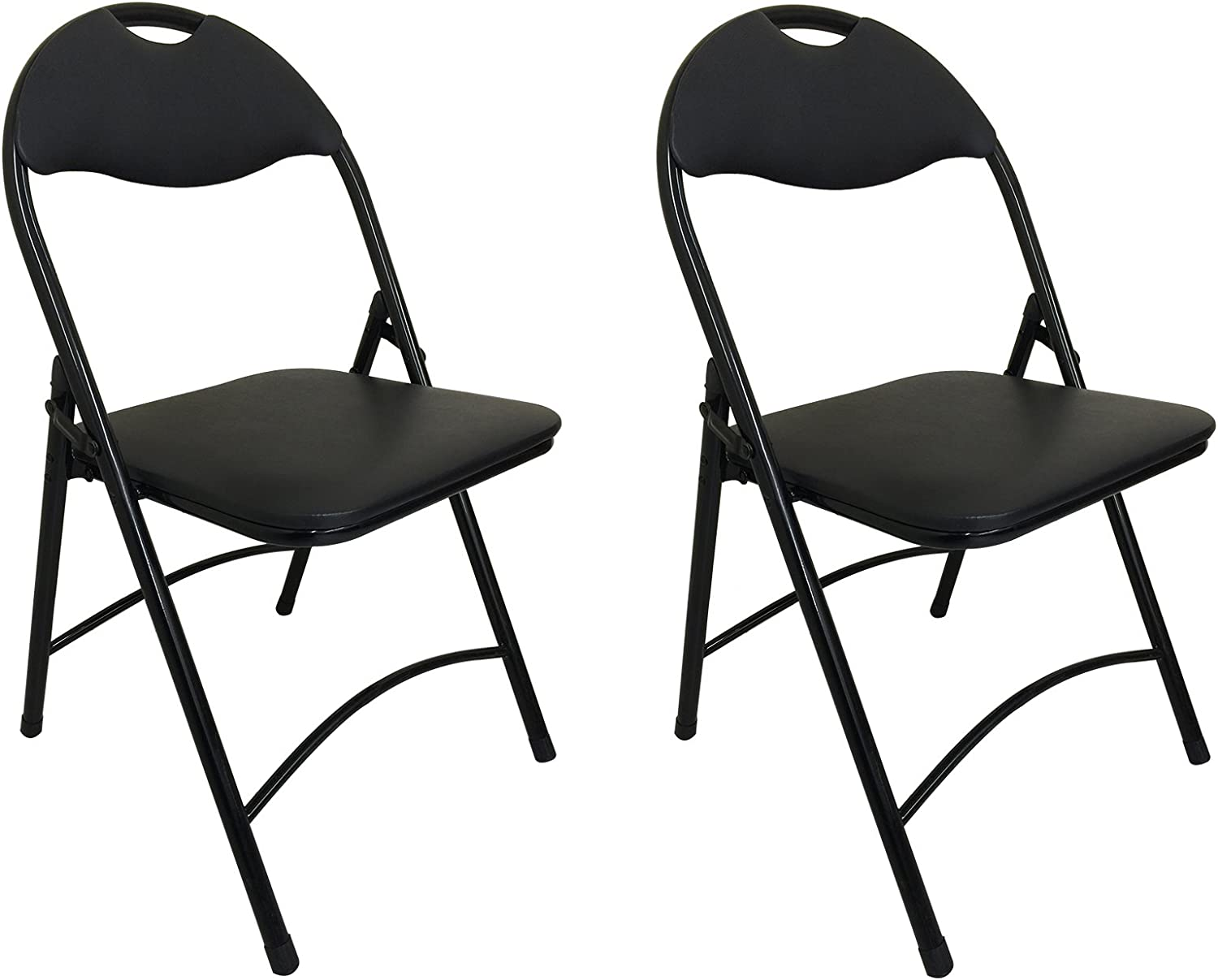 Heavy Duty Sale special price Black Metal Folding Chair with Comfor Seat Padded Topics on TV for