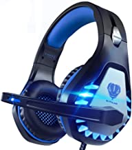 Pacrate Stereo Gaming Headset for PS4, Xbox One, PC with Noise Cancelling Mic - Surround Sound Gaming Headphones - Soft Me...