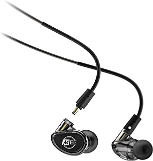 MEE Professional MX4 PRO Customizable Noise-Isolating Universal-Fit Modular Musicians in-Ear Monitors (Smoke)
