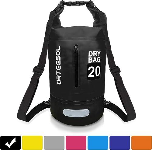 arteesol Waterproof Dry Bag, Waterproof Floating Backpack 5L/10L /20L/30L with Double Shoulder Strap Lightweight Dry ...