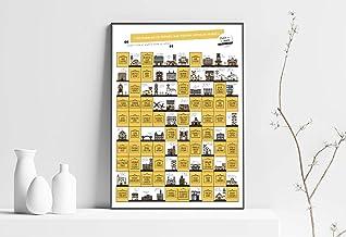 100 PUEBLOS DE ESPAÑA QUE VISITAR ANTES DE MORIR. Papel estucado, Multicolor, 65 x 45 cm