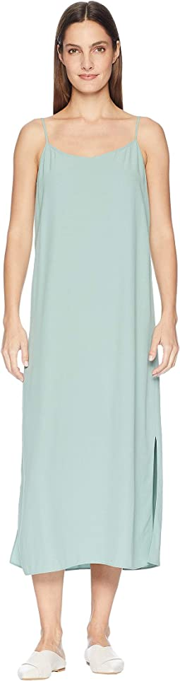 Tencel Viscose Crepe V-Neck Cami Dress