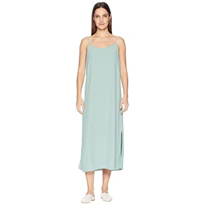 Eileen Fisher Tencel Viscose Crepe V-Neck Cami Dress (Elm) Women
