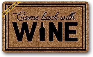 Artsbaba Welcome Doormat Come Back Wine Door Mat Non Slip Rubber Floor Mat Rug Indoor Entrance Mat 30 x 18 inches