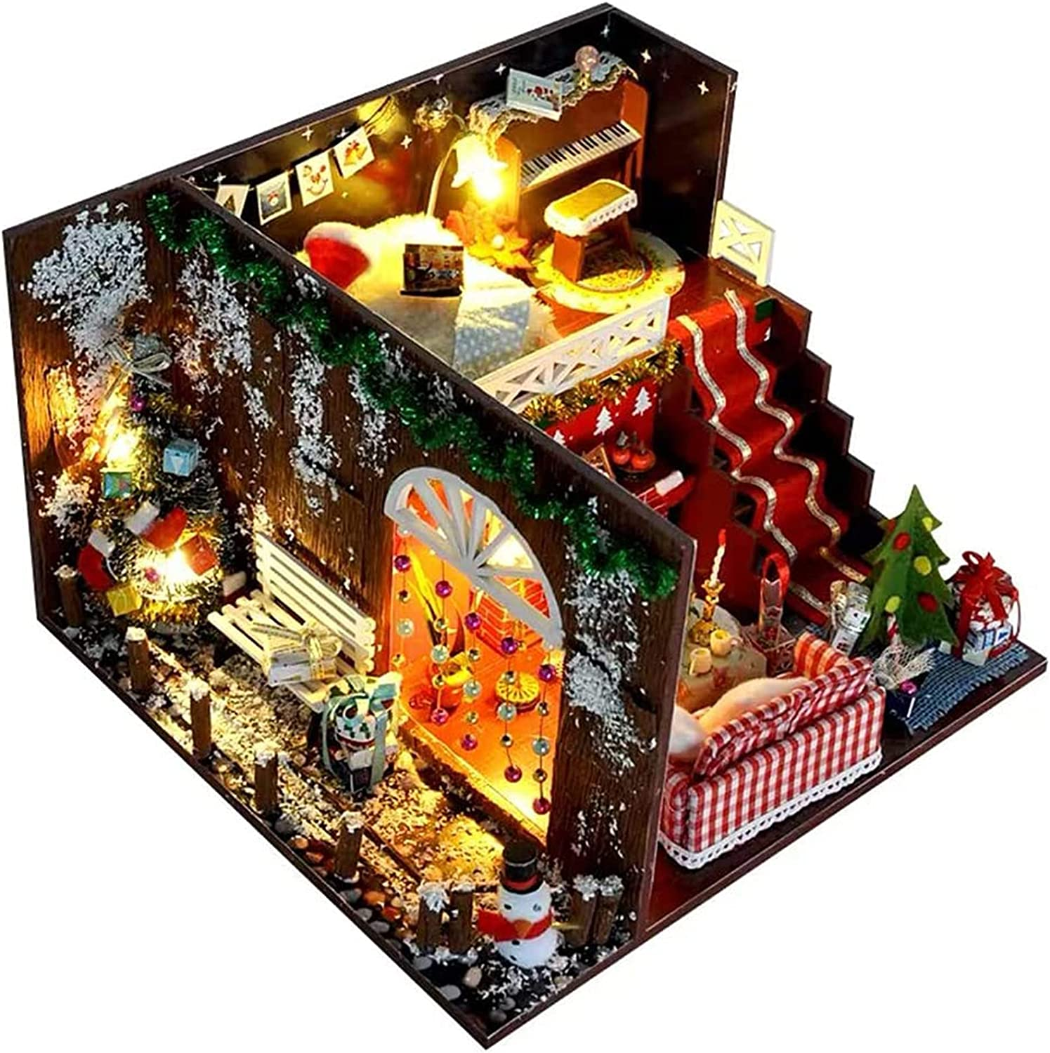 PPQQBB Dollhouse Miniature DIY House lowest price Creative Room Kit Furn with Super intense SALE