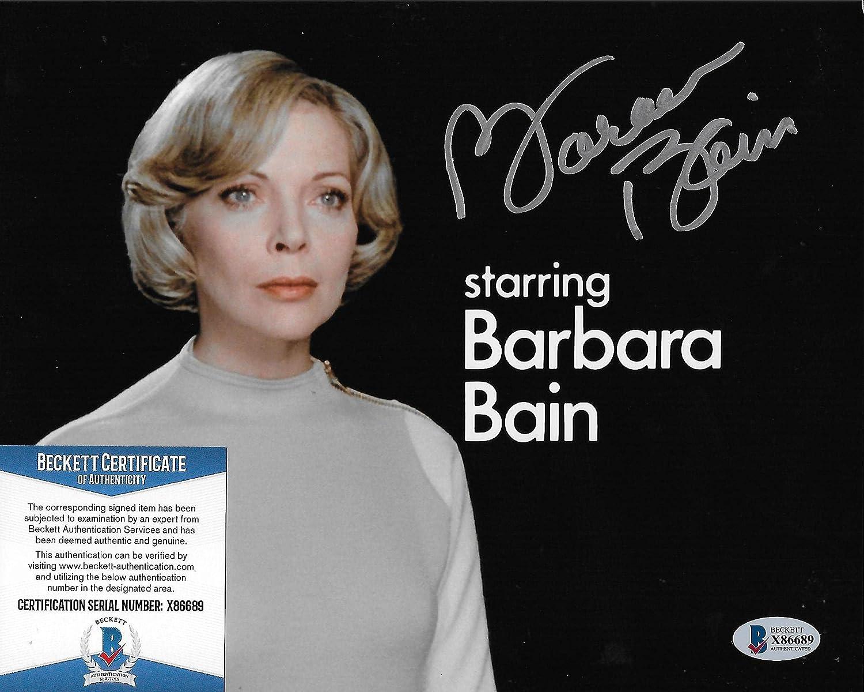 Barbara Bain Rare Space 1999 Original 8X10 COA #3 w Recommended Beckett photo