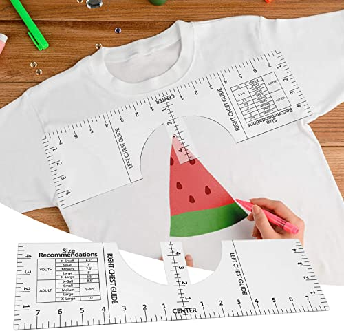 discount OPTIMISTIC T-Shirt Alignment Tools outlet online sale Clear T-Shirt Ruler Guide for Vinyl Placement - discount Sublimation Designs on T-Shirt- Shirt Ruler Guide Size Chart - T-Shirt Alignment Guide Tool outlet online sale